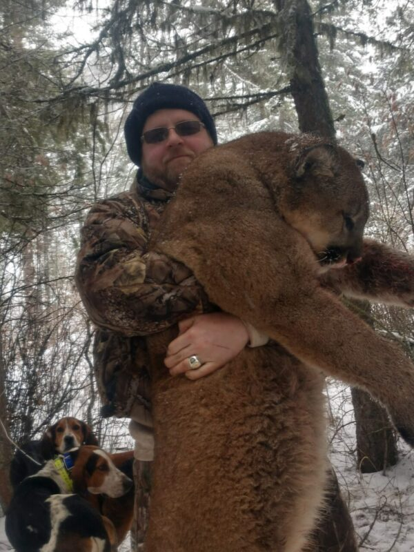 Larry Hatter with Idaho Mountain Lion